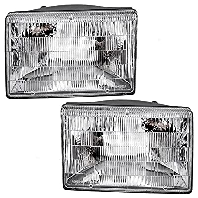 Driver and Passenger Headlights Headlamps Replacement for Jeep SUV 55155127 55155126