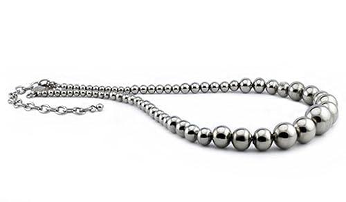 Diplomado de collar bolas de acero inoxidable: Amazon.es ...