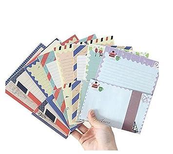 32 Sortierte Farbe Spezielles Design Schreiben Briefpapier Papier