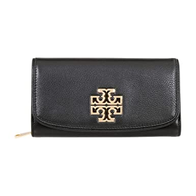 Amazon.com  Tory Burch Ladies Small Leather Britten Duo Envelope  Continental Wallet 43496001  Clothing 6f54a965579e6