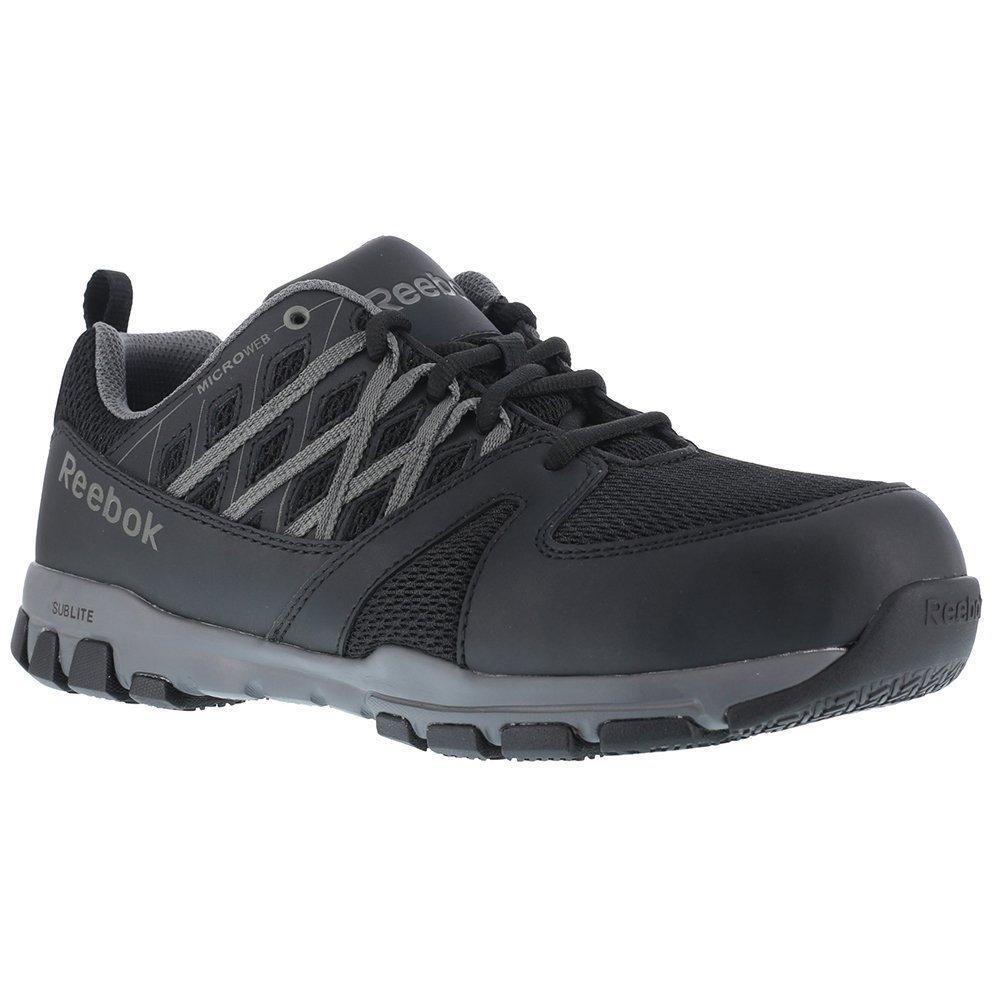 Reebok Women's Sublite Athletic Oxford Work Shoes Steel Toe Black 11 W