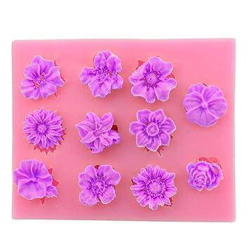 Z@SS Flores y decoración de pasteles de molde para hornear herramientas de bricolaje 2pcs: Amazon.es: Hogar