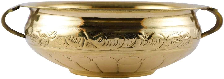 Aatm Brass Designer Urli Best for Home & Office Decoration & Gift Purpose Handicraft (10 Inch)