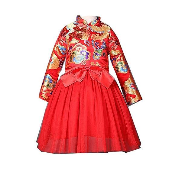 QinMM Bambino Tutu Costume da Principessa Compleanno Principessa Abito  Vestito di Vestito delle Ragazze Tang Vestito di Stile Cinese Vestito di  Nuovo Anno ... 0a5a7aaeba6
