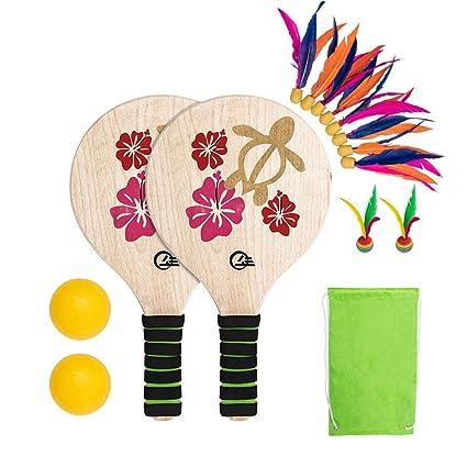 VORCOOL Paddle Ball Schl/äger Spiel Set Beach Paddle Ball Set Beach Tennis Beach Ball Schl/äger f/ür Kind Erwachsene Indoor Outdoor Spiel Spielzeug