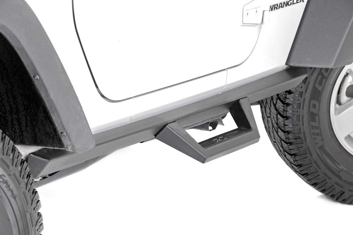 2DR SDS071753 Side Steps Rock Sliders Rough Country DS2 Drop Nerf Steps Compatible w// 2007-2018 Jeep Wrangler JK