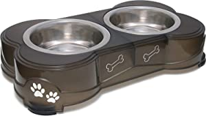 Loving Pets Dolce Diner Dog Bowl, Small, 1 Pint, Espresso