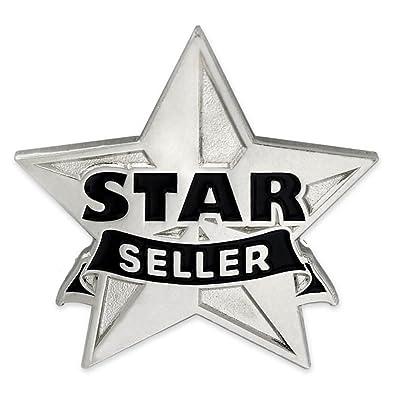 amazon com pinmart silver star seller corporate recognition enamel