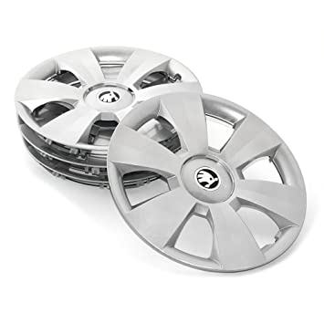 Skoda 6 V0071455 Hub Caps 15 Inch Dentro 4x Wheel trims: Amazon.co.uk: Car & Motorbike