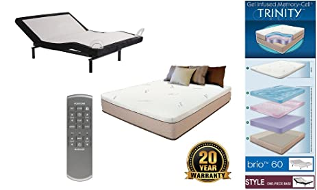 Adjustable Wireless Remote One Piece Bed Frame Base Zero Gravity And Dual  Massage Electric Frame Bundle
