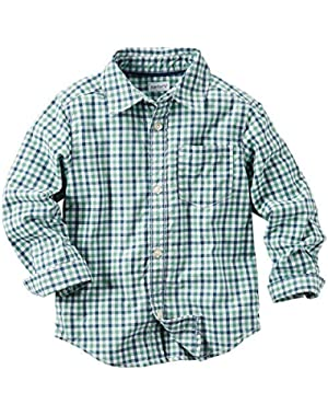 Carter's Baby Boys' Plaid Button Front Shirt - 12 Months