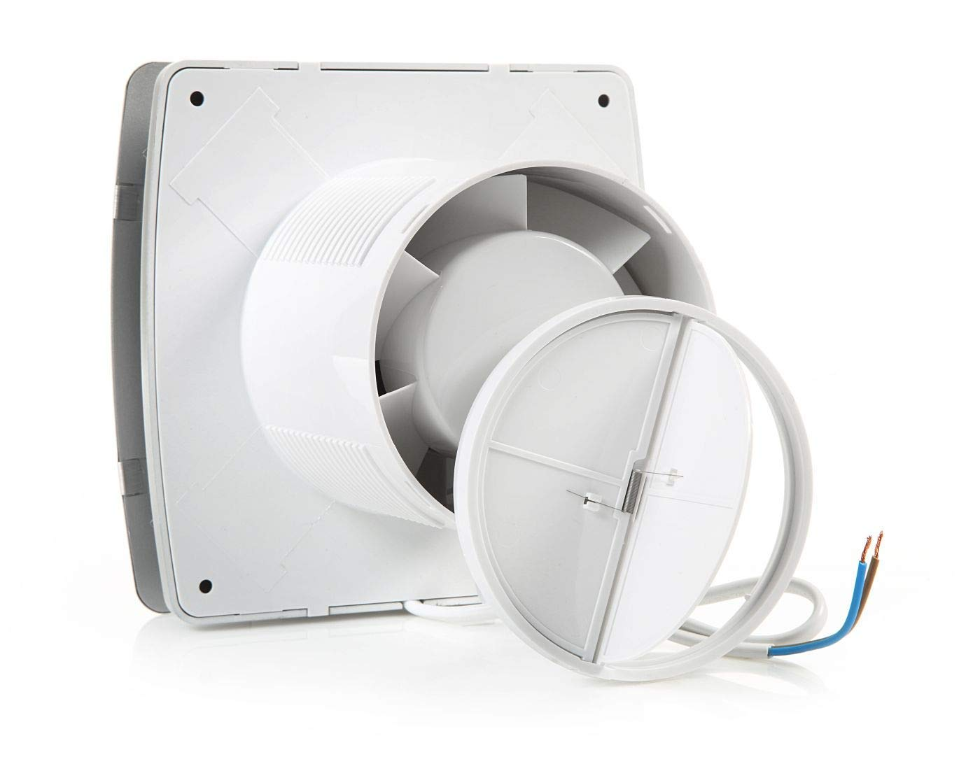 LFS100-QB STERR 4 Black Quiet Bathroom Fan 100 mm
