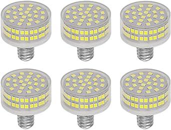 Pack de 6 Bombillas LED E14 de 8W, 88 LEDs, Reemplazo de 80W Lámpara Halógena, 800 Lumenes, 6000K Blanco Frío, Ángulo de haz 360 Grados, AC 220-240V, No Regulable: Amazon.es: Iluminación