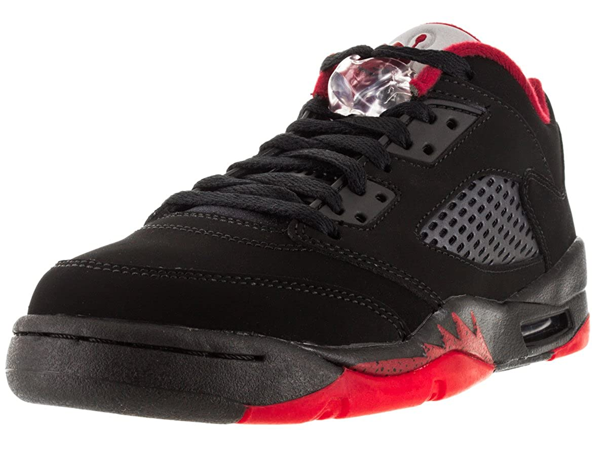 sports shoes c388c cf262 NIKE Air Jordan 5 Retro Low LTD Alternate Basketball Shoes Sneaker  Black/red, EU Shoe Size:36 EU