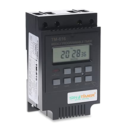 Surprising Sinotimer 30Amp 7 Days Programmable Digital Timer Switch Relay Wiring Cloud Hisonuggs Outletorg