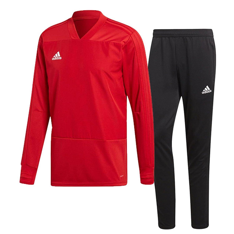 アディダス(adidas) CONDIVO18 トレーニングウエア 上下セット(パワーレッド/ブラック) DJV18-CG0382-DJU99-BS0526 B07988Q6C6パワーレッド×ブラック 日本 J/M-(日本サイズM相当)