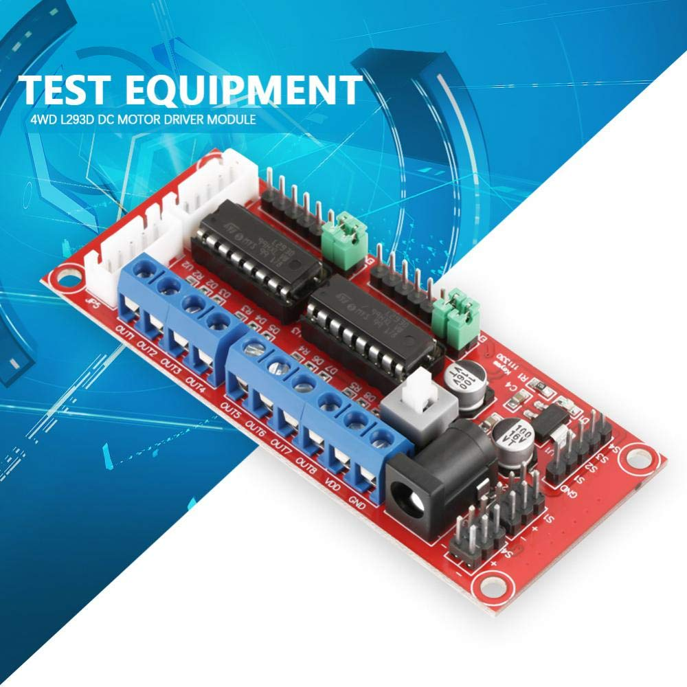 Akozon 4wd L293d Dual H Bridge Dc Motor Driver Module Mcu Control Speed And Direction For Smart Car Robot Electronics