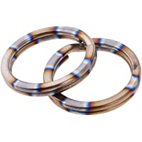 D DOLITY 2pcs Titanium Keyring Split Rings Metal Keychain Key Chain Links Outdoor Sports Small Tools