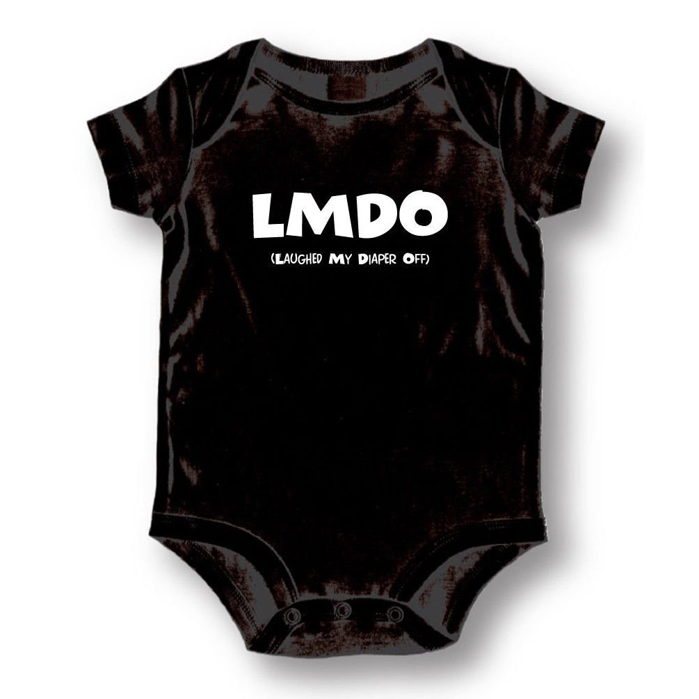 Dustin clothing series Lmdo laughed My Diaper Off Baby Boys Girls Toddlers Funny Romper 0-24M