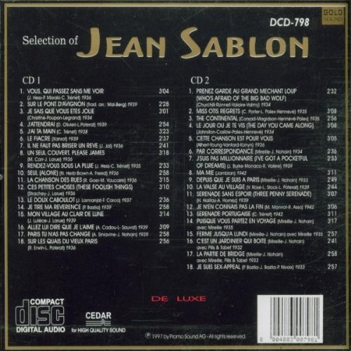 Selection of Jean Sablon by Golden Sounds