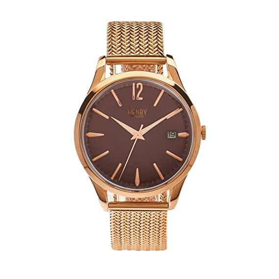 Henry London Hampstead Unisex Watch Analogue Quartz Stainless Steel HL39 M% OFF RRP (Certified