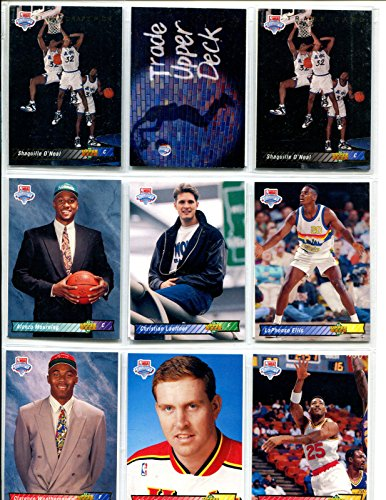 - 1992 - 1993 Upper Deck Complete 510 Card Basketball Set - Includes 3 Shaquille O'neal Rookie Cards, Jordan Cards, Sp Larry Bird and Magic Johnson Cards Series 1 and 2