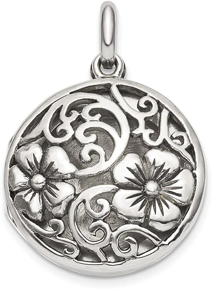 925 Sterling Silver Filigree Locket Pendant Charm Necklace Shaped Flower Gardening Fine Jewelry For Women Gifts For Her
