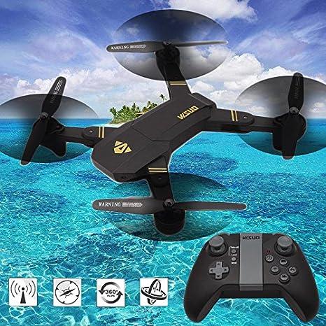 Cewaal XS809W Set plegable alto Drone con cámara, RC Quadcopter ...