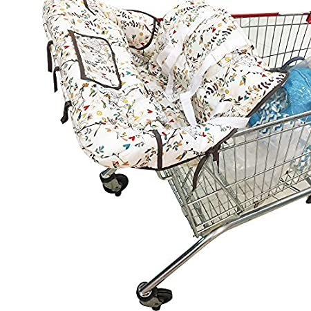 KAKIBLIN Portable Shopping Trolley Cover for Baby Toddler 2 in 1 Highchair Cover Universal Size Machine Washable