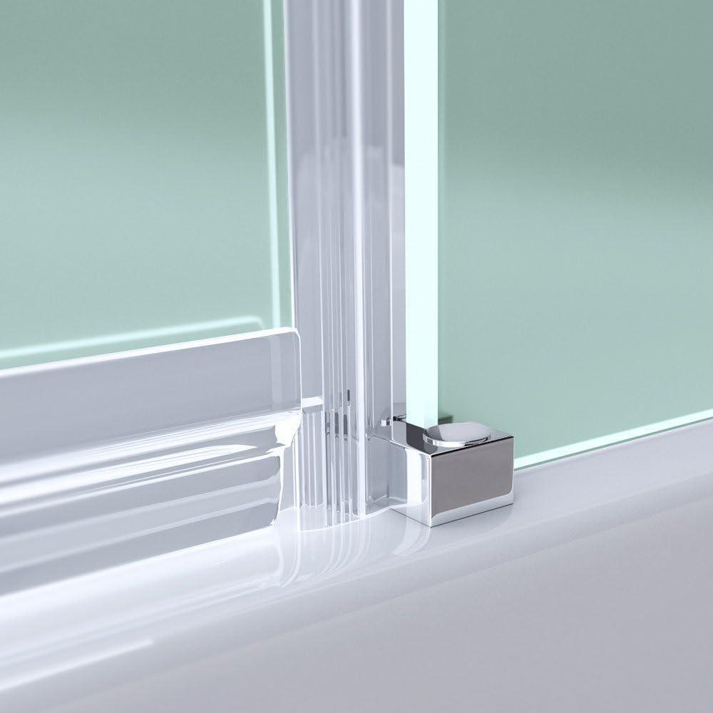 100 X 100 X 196 cm Diseño Mampara ravenna06s, incluye ducha Taza faro3ar, cristal de seguridad de vidrio satinado, incluye al nano-recubrimiento: Amazon.es: Bricolaje y herramientas