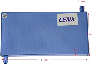 BXQINLENX Aluminum Water Cooling Block for CPU Graphics Radiator Heatsink 87x 171X17mm Blue