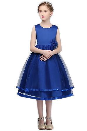 c44fe4db5 YNQNFS Flower Girl Dresses Lace Appliques Pageant Dresses Princess Dress  Light Blue