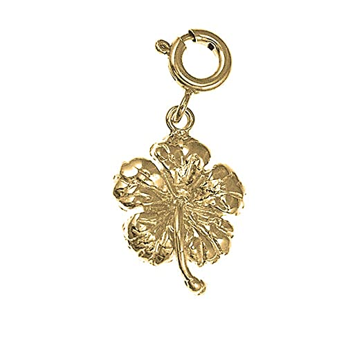 14K Yellow Gold-plated 925 Silver Hibiscus Flower Pendant with 18 Necklace Jewels Obsession Flower Necklace