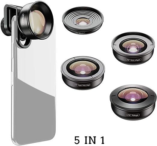 WZHESS 5 en 1 teléfono Celular de la cámara de la Lente del Kit ...