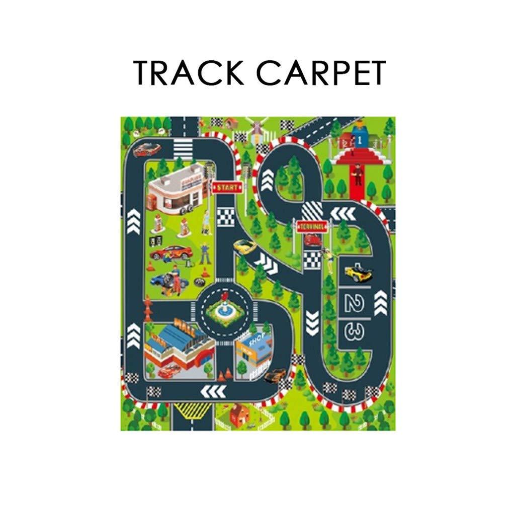 Samoii 子供用 カーペット プレイマット シティライフ - 子供用 教育 道路交通システム カラフルなアクティビティ センター プレイマット 寝室 遊び部屋 車遊びに最適  A B07QSWP945