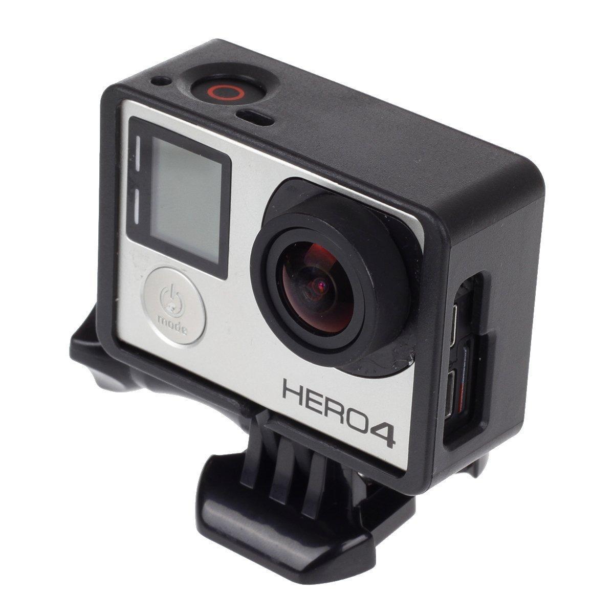 Greencherryフレームマウント保護ハウジングケースfor GoPro Hero 4、Hero 3 +カメラ   B0775RR928