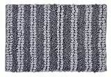 WARISI - Shag Collection - Paper shag, Tissue Area Bath or Shower Rug (34x21, Grey)