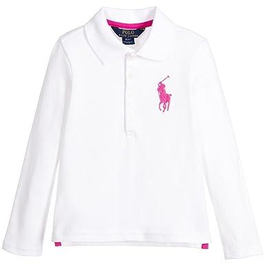 793b4e15 Amazon.com: Polo Ralph Lauren Little Girls Long Sleeve Shirt: Clothing