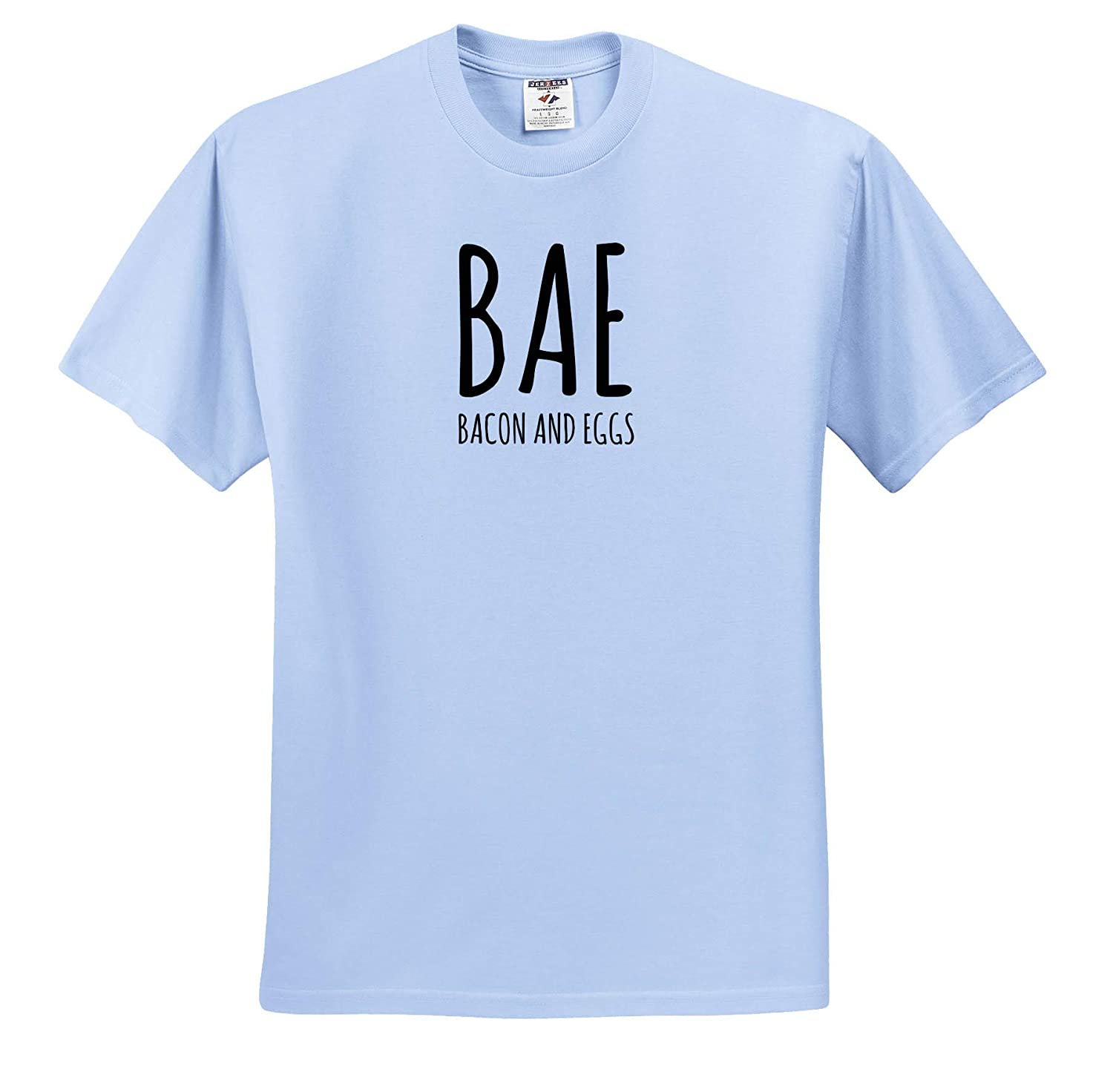 Quote T-Shirts 3dRose Gabriella B Image of BAE Bacon and Eggs Quote