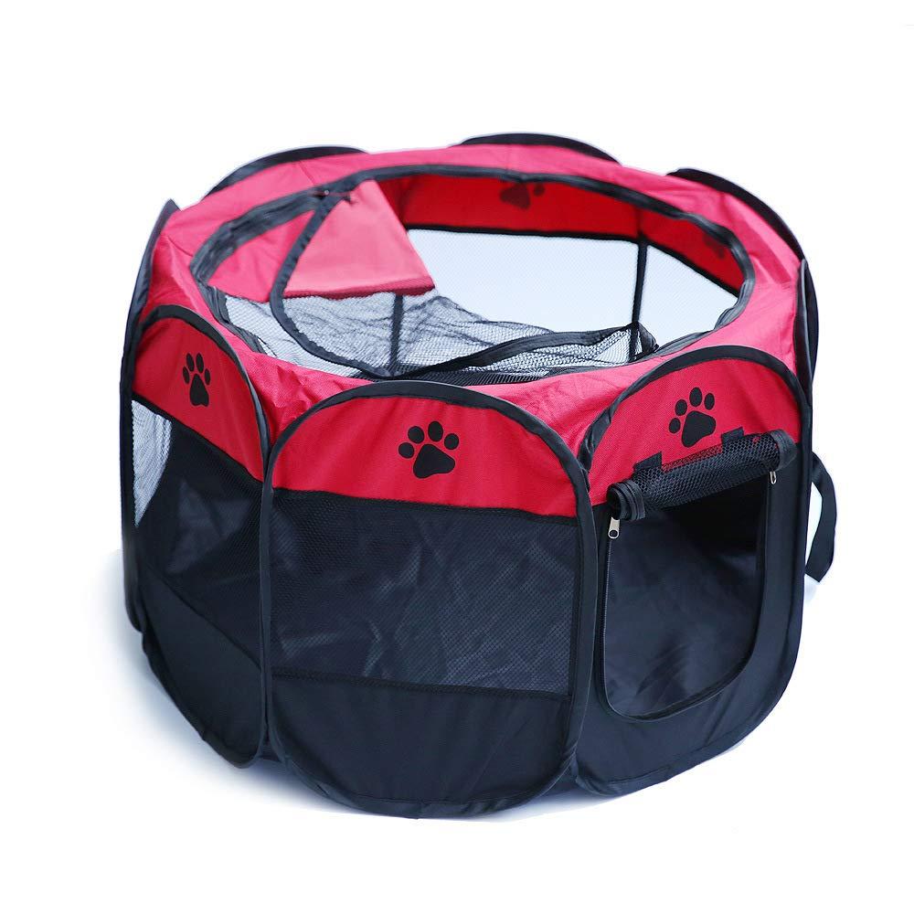 JXJL Pet Play Pen Portable Pieghevole Puppy Dog Pet Cat Cat Cat Coniglio Guinea Pig Box in Tessuto Gabbia Gabbia Tenda (Rosso),70x70x45CM | tender  | Aspetto Attraente  | Materiali Di Prima Scelta  | New Style  | Lussureggiante In Design  | Per Essere Altame a15051