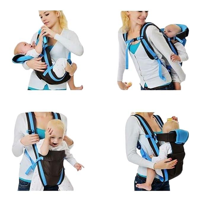 GudeHome Ajustable 4 posiciones de módulos 3D Mochila bolso de la bolsa del abrigo suave estructurado infantil ergonómico honda Anverso bebé recién nacido: ...