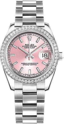 Amazon.com Women\u0027s Rolex Datejust 31 Pink Dial Diamond