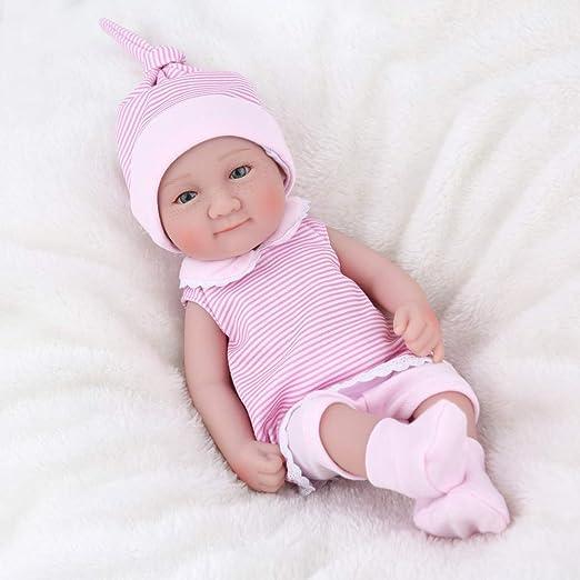 "10/"" Full Body Vinyl Silicone Baby Reborn Doll Newborn Sleeping Dolls+Dress Gift"