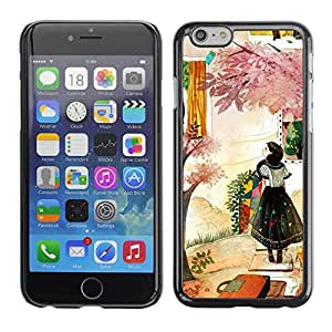 Planetar® ( Woman Fashion Abstract Painting ) Apple (5.5 inches!!!) iPhone 6+ Plus / 6S+ Plus Fundas Cover Cubre Hard Case Cover