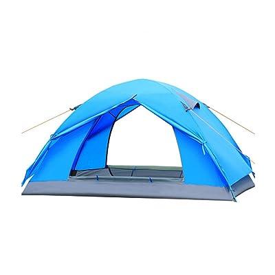 1900g Haut De Gamme Tente Extérieure Camping Camping, Tente De Pluie Lutte Professionnelle,Blue