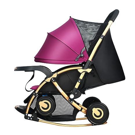 Trolley Lxzxz - Cochecito de bebé Carro de bebé plegable 0 ...