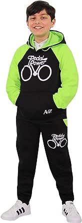 Boys Girls Tracksuit Kids Designer Pedal Power Jogging Suit Top Bottom 5-13 Year