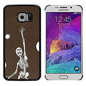 Be Good Phone Accessory // Dura Cáscara cubierta Protectora Caso Carcasa Funda de Protección para Samsung Galaxy S6 EDGE SM-G925 // Skeleton Vignette Dream Deep Meaning