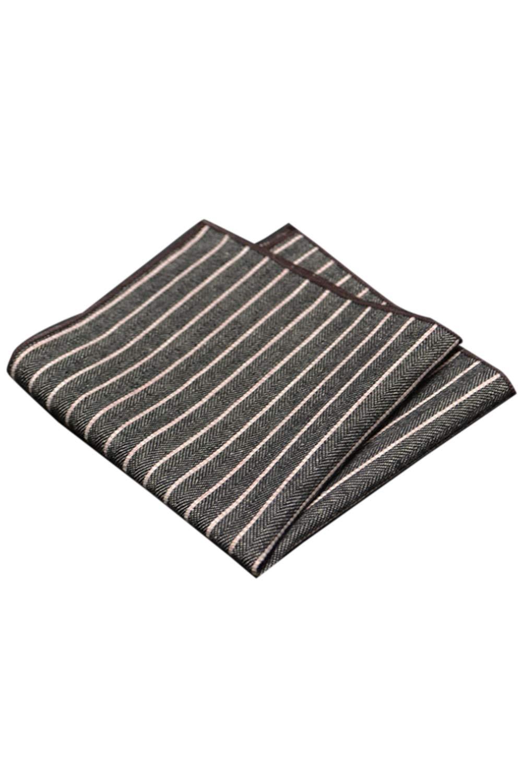 Mens Plaid Cotton Handkerchiefs Vintage Stripes Handkerchief Business G One Size by Jomuhoy (Image #1)