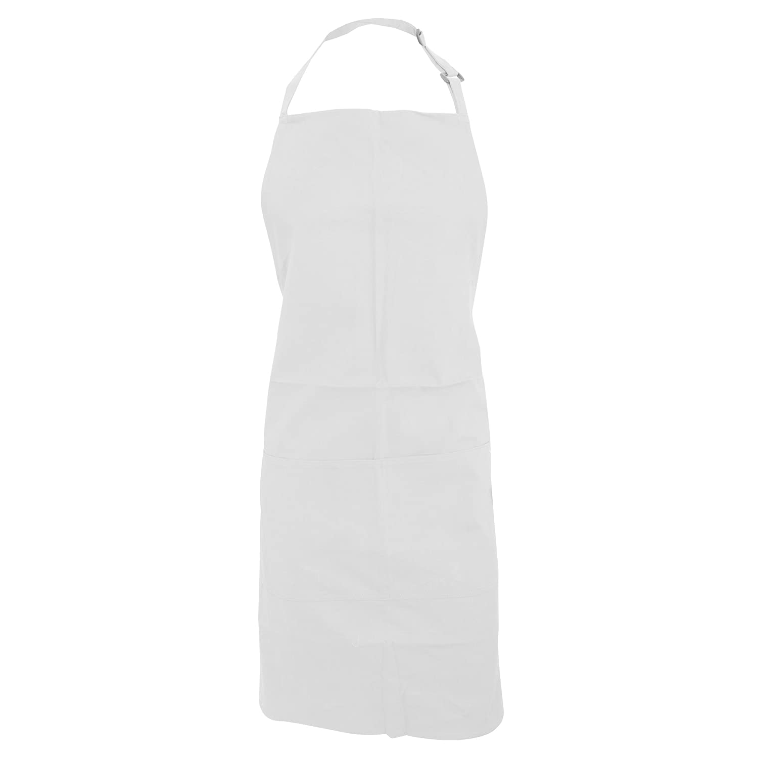 Bargear Adults Unisex Catering/Restaurant Bib Apron (One Size) (White) UTRW3949_1